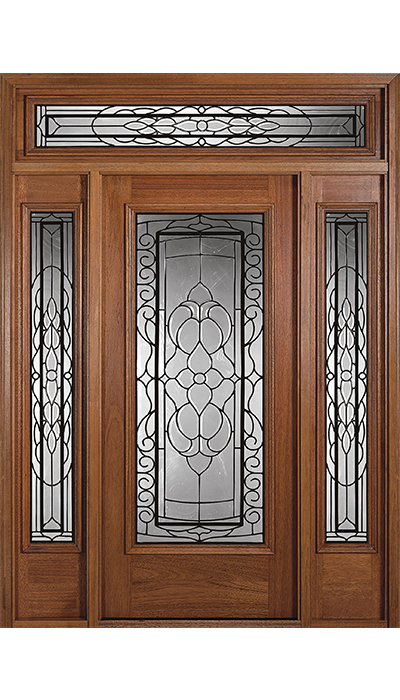 WOODEN DOOR WITH GLASS LDG-067