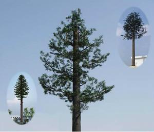 China Camouflage Telecom Poles and Palm Tree Monopole Tower, Bionic ,disguised tree supplier