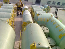 FRP acid and alkali tank