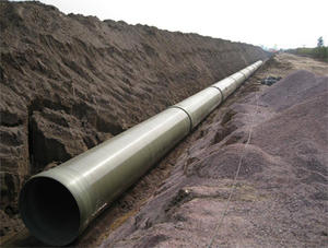 China FRP sewage pipes factory