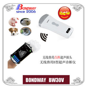 Wireless Veterinary Convex Ultrasonic Transducer, Veterinary Ultrasound Scanner, Veterinary Ultrasound Scan Machine