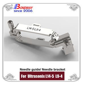 Needle bracket, needle guide for Ultrasonix L9-4 ultrasound transducer