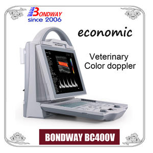 Escáner de ultrasonido doppler color digital veterinario, máquina ultrasónica