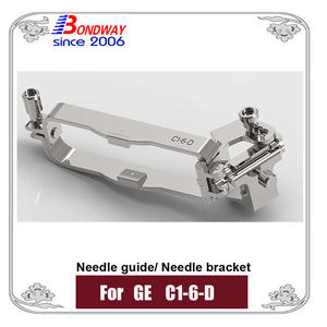 Needle bracket, biopsy needle bracket, needle guide for GE ultrasound C1-6-D