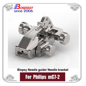 Biopsy needle guide for Philips micro-convex transducer mC7-2, needle bracket