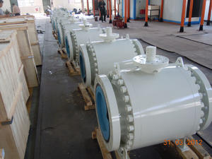 Trunnion Mounted Ball Valve, large size trunnion ball valve supplier in China