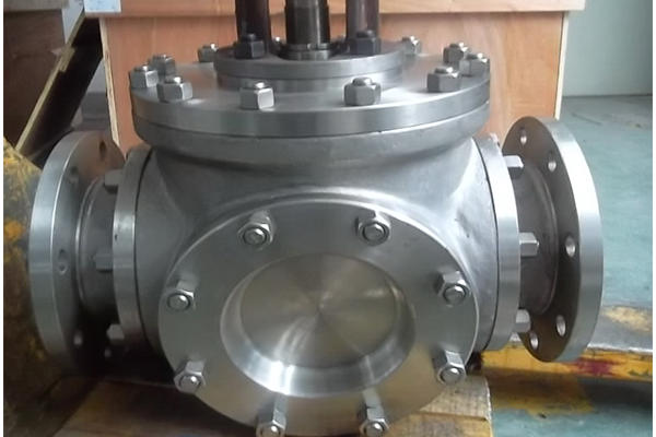 Three -way ball valve