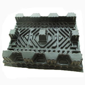 China Black vacuum forming thick plastic sheet thermoformed tray supplier