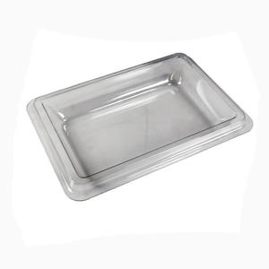 China White plastic PVC Vacuum Formed container with cover facotry