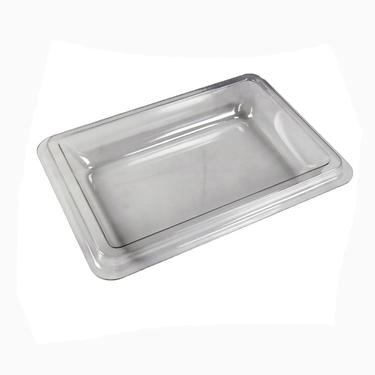 White plastic PVC Vacuum Formed container with cover
