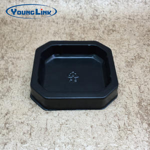 OEM Black PP food grade blister tray factory