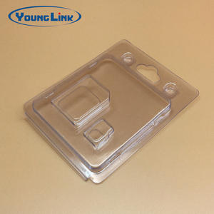 custom-made high quality transparent pvc clamshell packaging