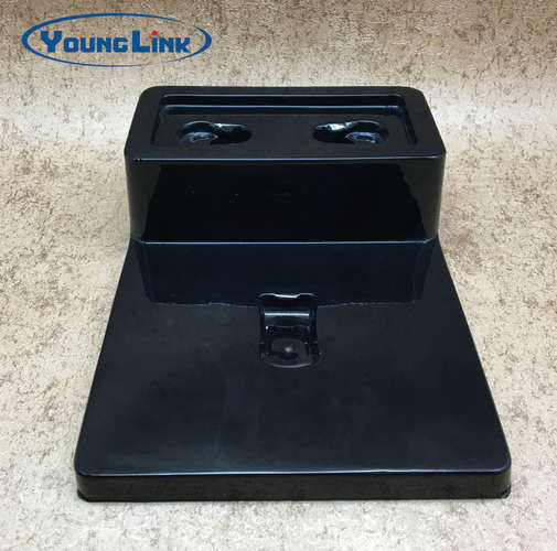Black plastic forming earphone pvc tray