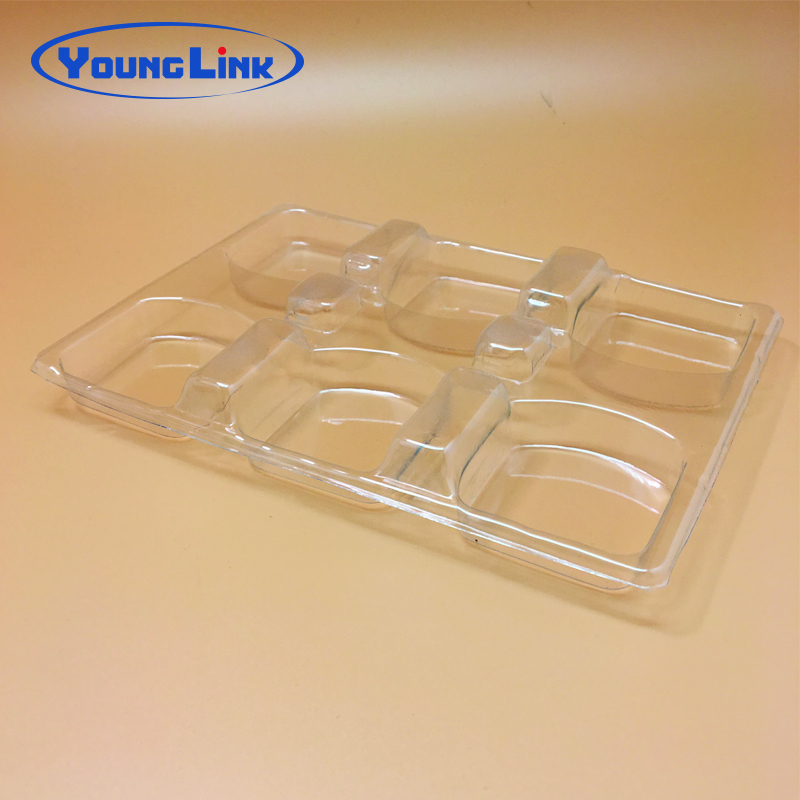 PVC clear  vacuum thermoforming plastic tray