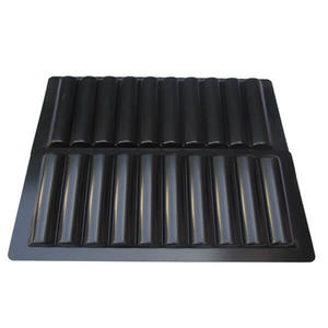 custom-made  black vacuum forming abs tray with good discount