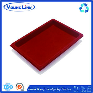 wholesale Custom Red blister flocking tray with good price