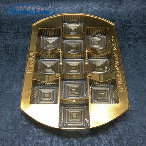China custom golden PET chocolate tray  manufacturers