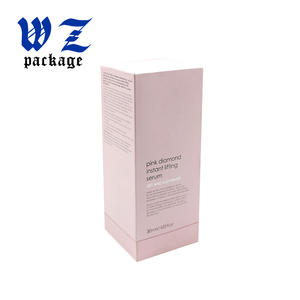 Pink Lid And Base Handmade Cosmetic Essence Lotion Lifting Serum Paper Box