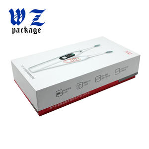 Fancy Custom Printing  Electric Toothbrush Rigid Paper Box With Blister Tray
