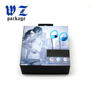 Bluetooth Headphones Cardboard Electronic Accessory Earphones Box With Hang Hole