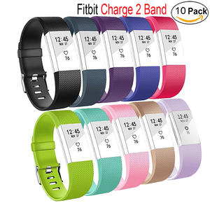 Fitbit Charge 2 Bands-Adjustable Wristbands Strap For Fitbit Charge 2 Replacement -10 Pack Large