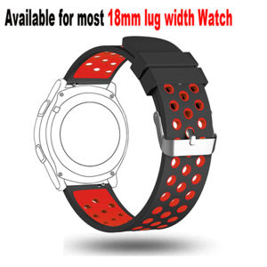 18mm Watch Band-Soft Silicone Wrist Strap For Huawei Watch LG Watch Style And All Other Width 18mm Smart Watch Medial Size
