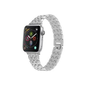 Stainless Steel Apple Watch Bands With CZ