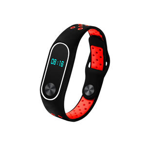 Double Colors Silicone Xiaomi Mi Band 3 Watch Bands with Button