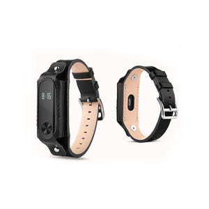 Genuie Leather Xiaomi Watch Bands Xiaomi Mi Band 2 With Buckle