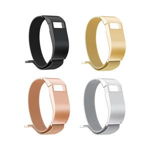 Milanese Stainless Steel Fitbit Watch Bands With Case For Fitbit Charge HR With Magnetic Clasp
