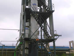 Waste tyre derive oil distillation tower