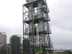 Waste plastic derive oil distillation tower tank