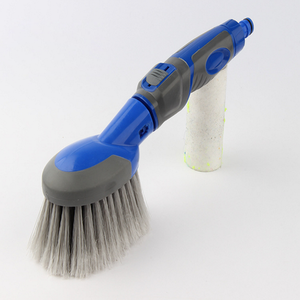 Natural material Top quality water flow-thru wash brush supplier, wheel brush tire brush,tyre washing brush,flow-though brush