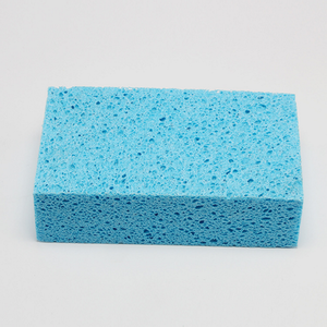 cheap wood pulp cotton sponge, dish washing cleaning sponge exporter