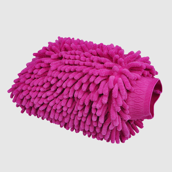 large double-side chenille car wash mitt chenille cleaning glove