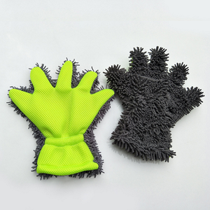 customized finger wash glove, chenille glove, car wash glove manufacturer