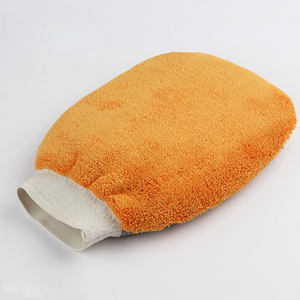 custom coral velvet car wash glove, coral velvet mitt, car washing mitt price