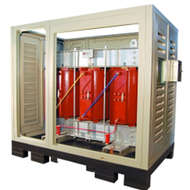 Dry type cast resin transformer with kiosk enclosure