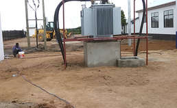 The 1600kva 33kv transformer is running successfully in Tanzania