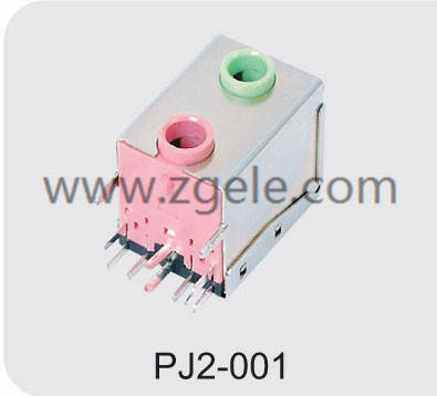 PJ2-001(Low price double headphone jack manufactures)
