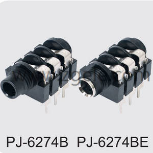 High quality Headerphone jack manufactures,PJ-6274B PJ6274BE