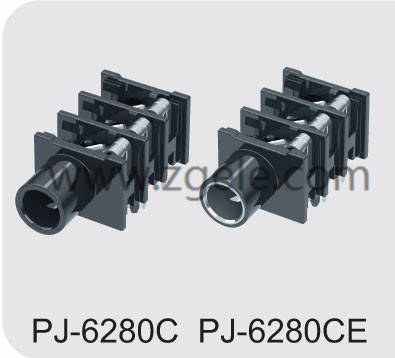 Customized 6.35 phone jack manufactures,PJ-6280C PJ6280CE
