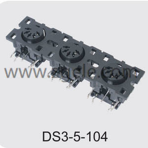 High quality 3 pin din connector brands,DS3-5-104