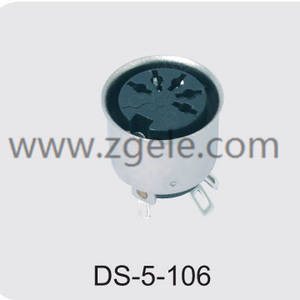 cheap 5 pin din socket supplier,DS-5-106