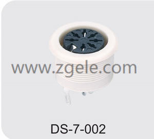 china 6 pin din female connector manufactures
