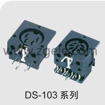 china mini din power connector supplier,DS-103