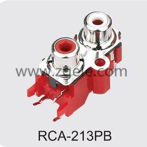 Low price audio jack connector supplier,RCA-213PB