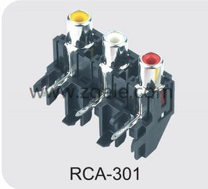 china solderless rca connector factory