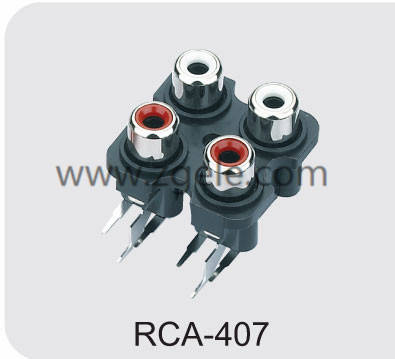 Low price panel mount power jack supplier,RCA-407