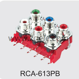 High quality rca to rca connector factory,RCA-613PB
